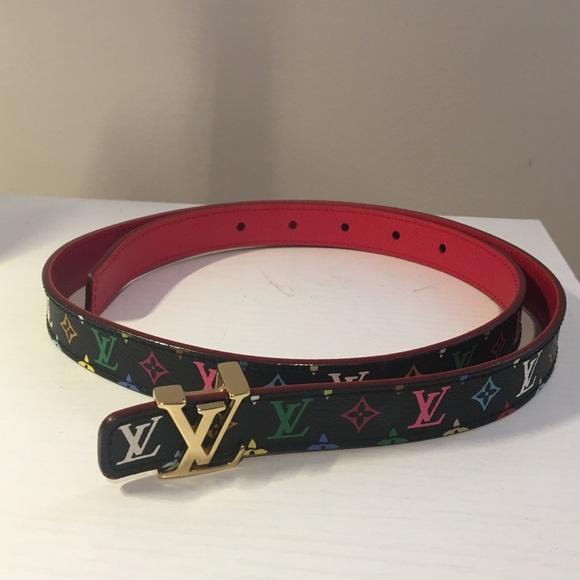 365779f5a19b Louis Vuitton Accessories - Louis Vuitton Black Multicolored Belt  size  80 32